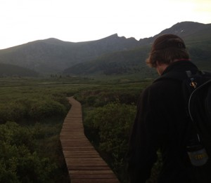 The boardwalk over the marsh we encountered at 12.000 feet above sea level. (Photo by Andrew Forkes-Gudmundson)