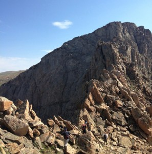 The Sawtooth going up to Mt. Evans. (Photo by Andrew Forkes-Gudmundson)