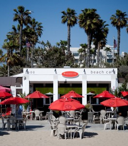 Perry's Cafe and rental at Santa Monica Beach. (From their Facebook page)