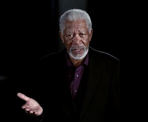 """Morgan Freeman from the episode, """"Did We Invent God?"""" He asks the question, """"There are other intelligent creatures on the planet. Do they believe in God?"""" (Photo is a screen shot from """"Through the Wormhole"""")"""