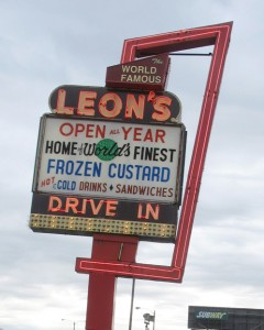 Visit a favorite ice cream — or frozen custard — stand. Leon's in Milwaukee, WI. (Photo by Tim Forkes)