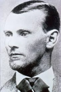 One of the famous shots of Jesse James.