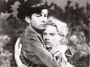 "Ray Stricklyn and Jacklyn O'Donnell in ""The Young Jesse James"""