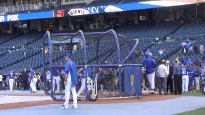 The Kansas City Royals during Wednesday's batting practice.