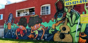 Some street art that pays tribute to Central Ave's golden age