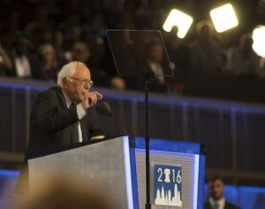 Bernie Sanders is firmly behind Hillary Clinton. (Douglas Christian)