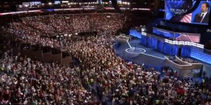 The Democratic National Convention at the Wells Fargo Center in Philadelphia, PA