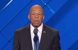 Maryland Congressman Elijah Cummings spoke at the convention on Monday.