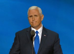 Governor Mike Pence of Indiana. How long will he continue to be Donald Trump's running mate?