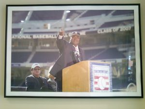 Tony Gywnn's photo in the Petco Park Press Box (Tim Forkes)