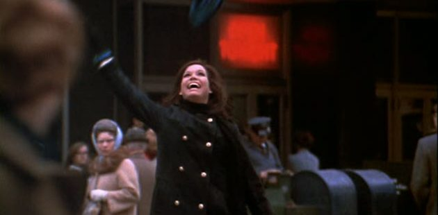 Mary Tyler Moore tosses her cap into the air in a screenshot from The Mary Tyler Moore Show