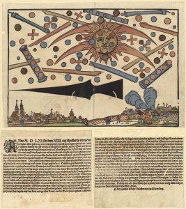 Himmelserscheinung_über_Nürnberg_vom_14._April_1561_Public Domain